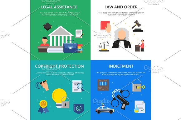 Conceptual Pictures Of Criminal Justice Illustrations Of Lawyer Judge And Other Persons In Flat Style