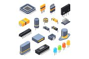 Capacitor, different chips, semiconductor and electrical components for electronic parts
