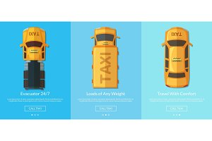 Vector order taxi app screens