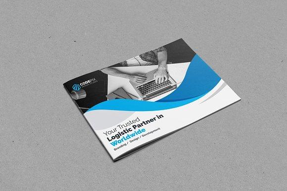 landscape bi fold template brochure templates creative market
