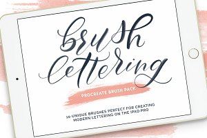 Brush Lettering Procreate Brush Pack