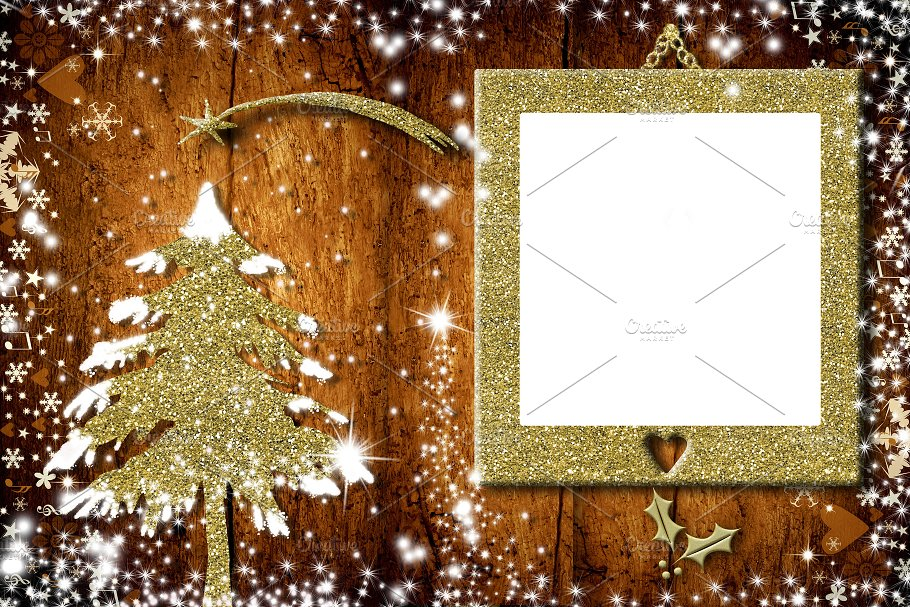 Photo frame Christmas cards ~ Holiday Photos ~ Creative Market
