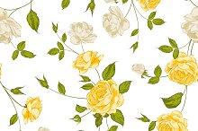 Roses floral background.