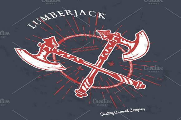 Crossed Axes Lumberjack Graphic Tee in Illustrations - product preview 1