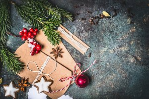 Christmas with craft paper packaging
