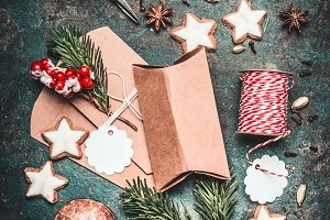 Christmas gifts cardboard boxes