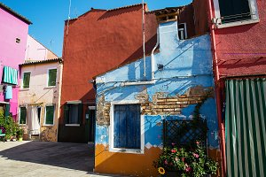 Colorful houses in Burano island , I