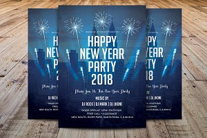 New Year Party 2018 Flyer