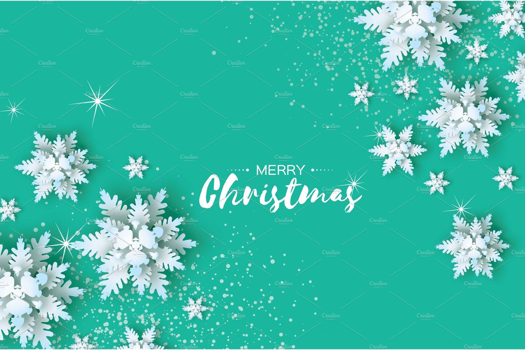 Origami Snowfall. Merry Christmas Greetings card. White ... - photo#4