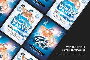 2 Dj Winter Flyer Templates