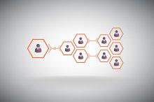 Business pyramid. Teamwork.