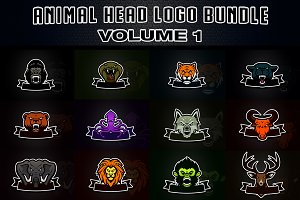Animal Head Logo Bundle vol. 1