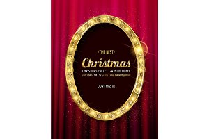 Invitation merry christmas party