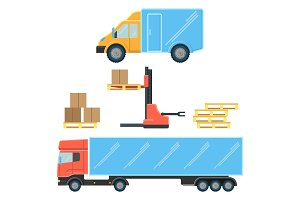 Delivery truck for small boxes and heavy packages