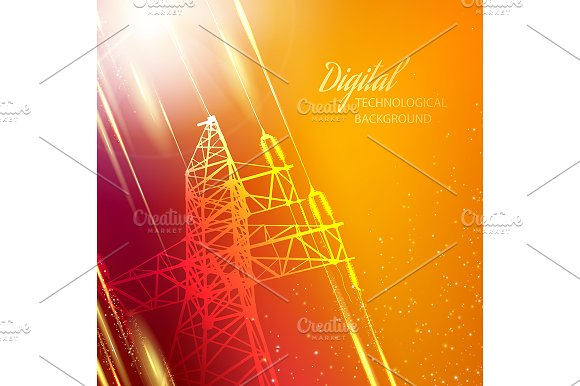 Electric power transmission tower.