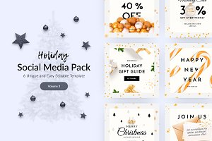 Holiday Social Media Pack vol.3