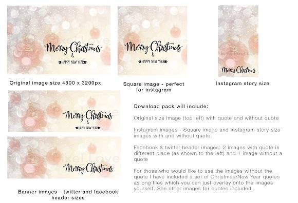 christmas social media bundle social media templates creative market