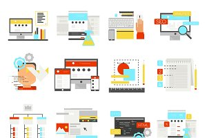 Web Design Flat Icon Set