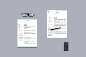 Light Green Resume/CV & Cover Letter