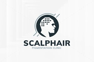 Scalp Hair Logo Template
