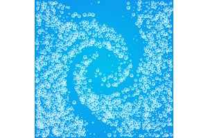 Whirlpool background with water or soap bubbles.