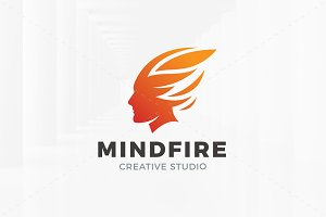 Mind Fire Logo Template
