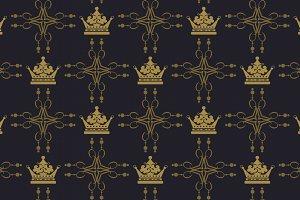 Royal damask wallpaper