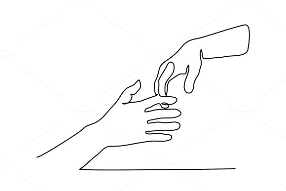 Line Drawing Holding Hands : Begging hands drawing polarview