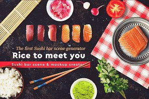 Sushi Bar Scene and Mock-up Creator