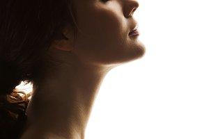 beautiful girl. Profile