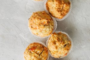 Savory muffins with fish ans cheese