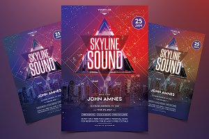 Skyline Sound - Party PSD Flyer