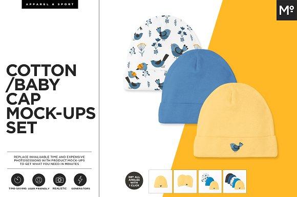 Download Cotton Baby Cap Mock-ups Generator
