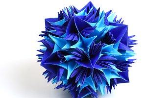 Origami kusudama snowflake