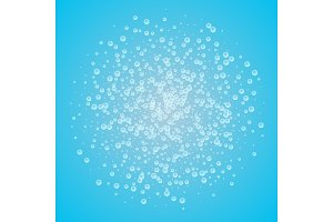 Water background with bubbles.