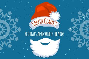 Santa Claus's Red Hats and Beards