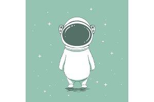 Funny astronaut bear