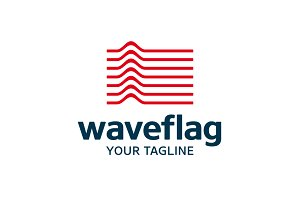 Wave Flag Logo
