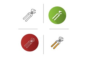 Tongue and groove pliers icon