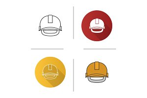 Industrial safety helmet icon
