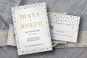 Black Gold Polkadot Wedding Suite