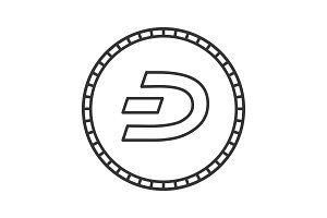 Dashcoin linear icon