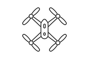 Quadrocopter linear icon