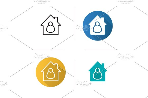 Tenant, resident, housekeeper, owner icon