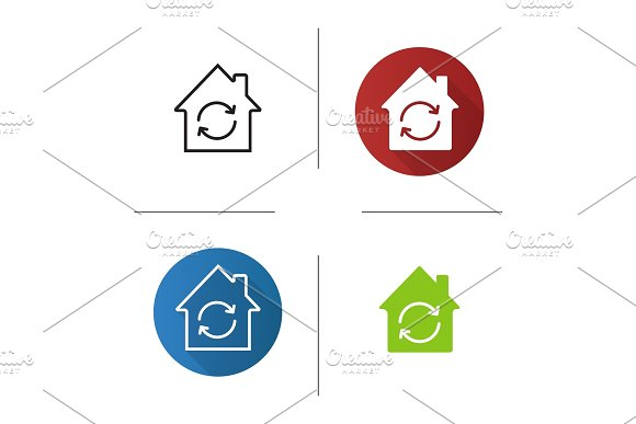 Home restoration icon in Graphics