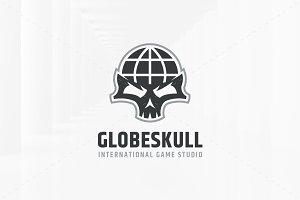Globe Skull Logo Template