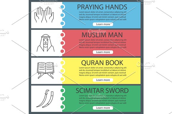 Islamic Culture Web Banner Templates Set