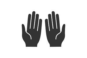 Muslim praying hands glyph icon