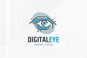 Digital Eye Logo Template