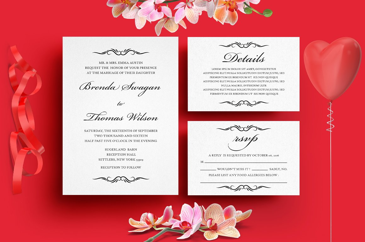 Rustic Wedding Invitation Suite ~ Invitation Templates ~ Creative Market